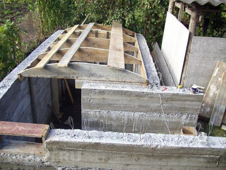 потолок для насыпного погреба