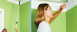Как правильно покрасить потолки