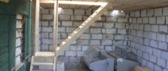 лестница в подвал гаража из разных материалов
