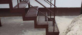 Виды металлических лестниц в подвал