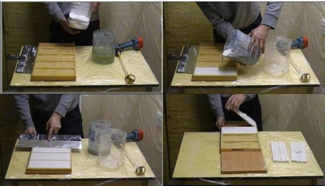 Порядок изготовления гипсовой плитки