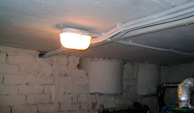 Как сделать светильник в погреб