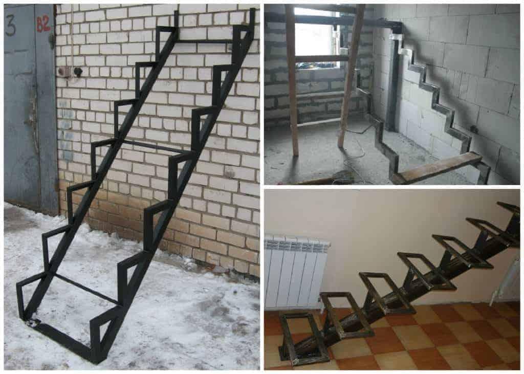 Как сделать металлическую лестницу на второй этаж своими руками фото 11